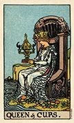 Queen of Cups Tarot card in Smith Waite Centennial Tarot deck