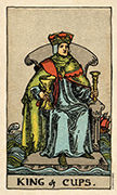 King of Cups Tarot card in Smith Waite Centennial deck