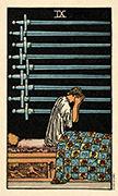 Nine of Swords Tarot card in Smith Waite Centennial deck