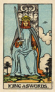 King of Swords Tarot card in Smith Waite Centennial deck