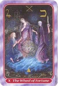 The Wheel of Fortune Tarot Card - Spiral Tarot Deck