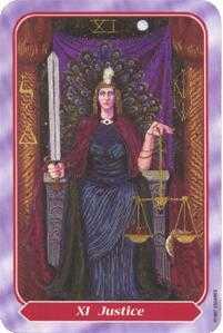 Justice Tarot Card - Spiral Tarot Deck