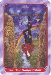The Hanged Man Tarot Card - Spiral Tarot Deck