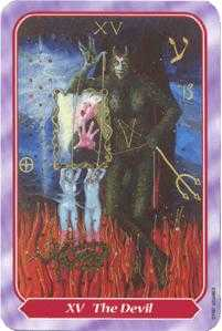 The Devil Tarot Card - Spiral Tarot Deck
