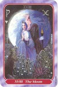 The Moon Tarot Card - Spiral Tarot Deck
