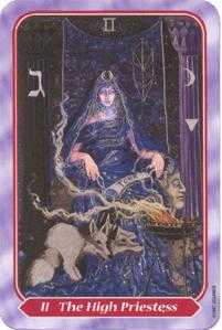The High Priestess Tarot Card - Spiral Tarot Deck