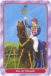 Six of Wands Tarot Card - Spiral Tarot Deck
