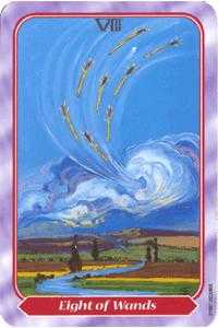 Eight of Batons Tarot Card - Spiral Tarot Deck