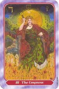 The Empress Tarot Card - Spiral Tarot Deck