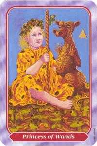 Princess of Staves Tarot Card - Spiral Tarot Deck
