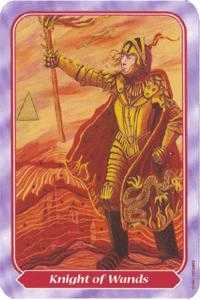 Knight of Rods Tarot Card - Spiral Tarot Deck