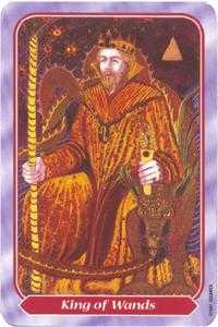 King of Staves Tarot Card - Spiral Tarot Deck