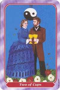 Two of Cups Tarot Card - Spiral Tarot Deck