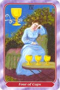 Four of Cups Tarot Card - Spiral Tarot Deck