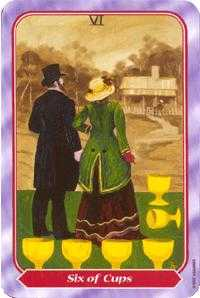 Six of Cups Tarot Card - Spiral Tarot Deck