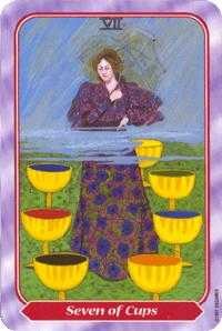 Seven of Cauldrons Tarot Card - Spiral Tarot Deck