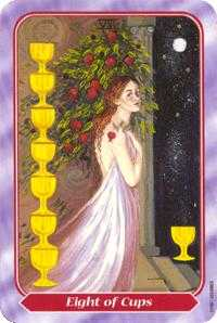 Eight of Cups Tarot Card - Spiral Tarot Deck