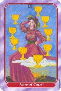 Nine of Cups Tarot Card - Spiral Tarot Deck