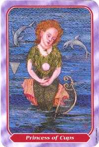 Princess of Hearts Tarot Card - Spiral Tarot Deck