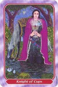 Knight of Water Tarot Card - Spiral Tarot Deck