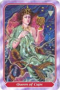 Queen of Bowls Tarot Card - Spiral Tarot Deck