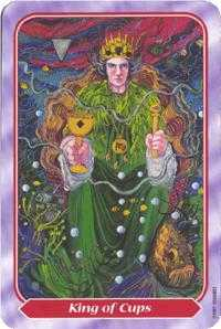 King of Cauldrons Tarot Card - Spiral Tarot Deck