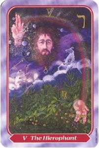 The Hierophant Tarot Card - Spiral Tarot Deck