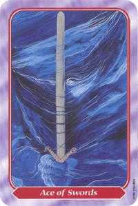 Ace of Wind Tarot Card - Spiral Tarot Deck