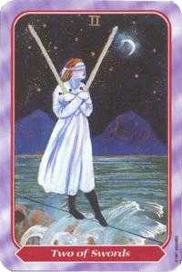 Two of Swords Tarot Card - Spiral Tarot Deck