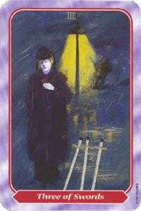 Three of Swords Tarot Card - Spiral Tarot Deck