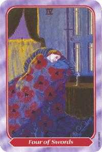 Four of Swords Tarot Card - Spiral Tarot Deck