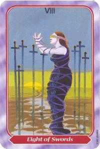 Eight of Arrows Tarot Card - Spiral Tarot Deck