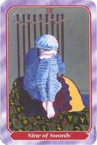Nine of Swords Tarot Card - Spiral Tarot Deck