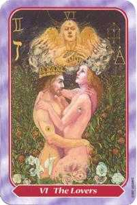 The Lovers Tarot Card - Spiral Tarot Deck