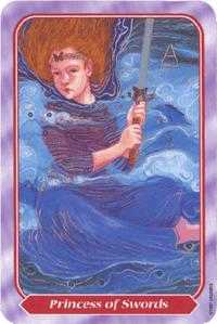 Daughter of Swords Tarot Card - Spiral Tarot Deck