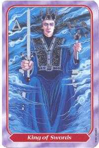 Roi of Swords Tarot Card - Spiral Tarot Deck