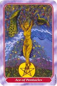 Ace of Discs Tarot Card - Spiral Tarot Deck