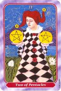 Two of Coins Tarot Card - Spiral Tarot Deck