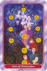 Ten of Coins Tarot Card - Spiral Tarot Deck