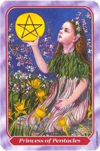 Princess of Pentacles Tarot Card - Spiral Tarot Deck