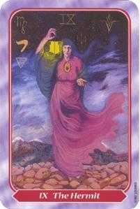 The Hermit Tarot Card - Spiral Tarot Deck