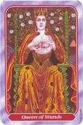Queen of Wands Tarot card in Spiral Tarot deck
