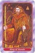 King of Wands Tarot card in Spiral Tarot deck
