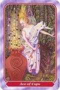 Ace of Cups Tarot card in Spiral Tarot deck
