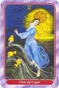 Five of Cups Tarot card in Spiral Tarot deck