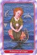 Princess of Cups Tarot card in Spiral Tarot deck