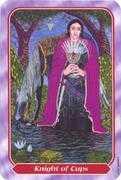 Knight of Cups Tarot card in Spiral Tarot deck