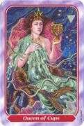 Queen of Cups Tarot card in Spiral Tarot deck