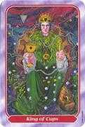 King of Cups Tarot card in Spiral Tarot deck