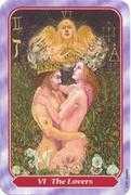 The Lovers Tarot card in Spiral Tarot deck
